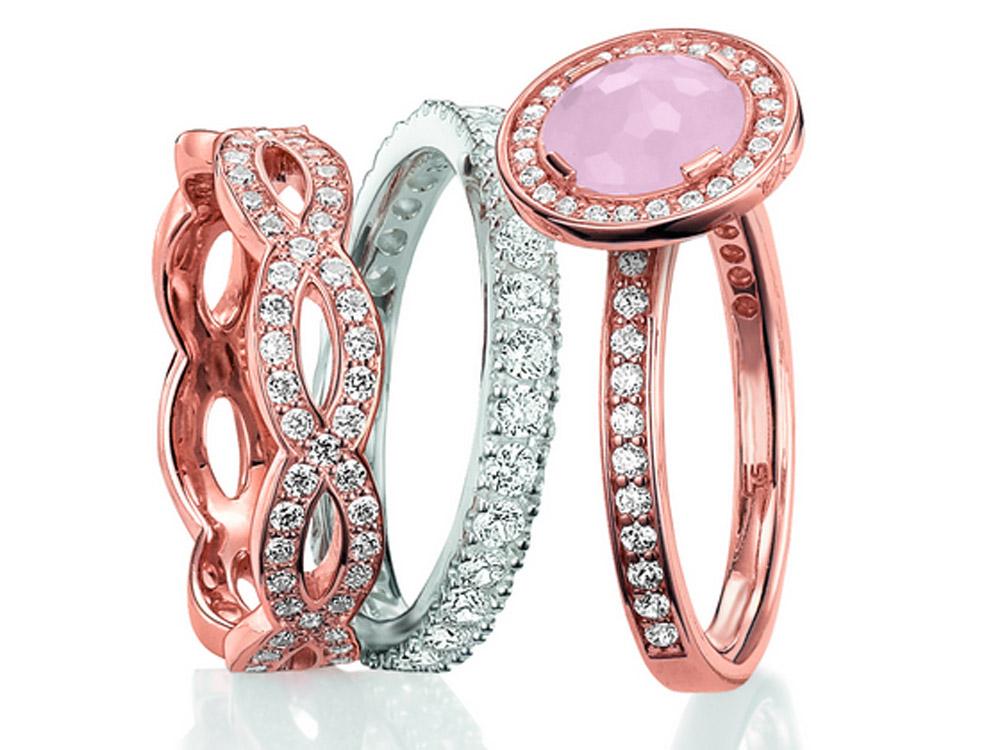 rose gold rings rose gold rings thomas sabo. Black Bedroom Furniture Sets. Home Design Ideas