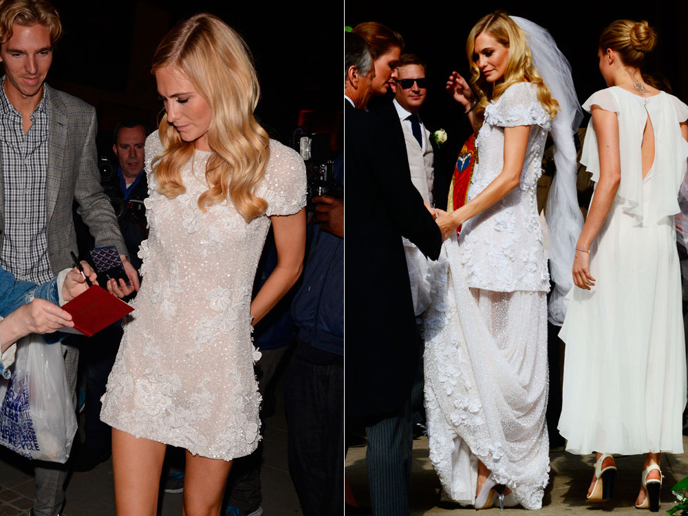 Poppy Delevingne S Chanel Wedding Dress Was Genius And