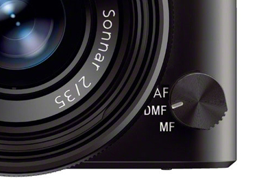 Sony RX1 focus dial close-up