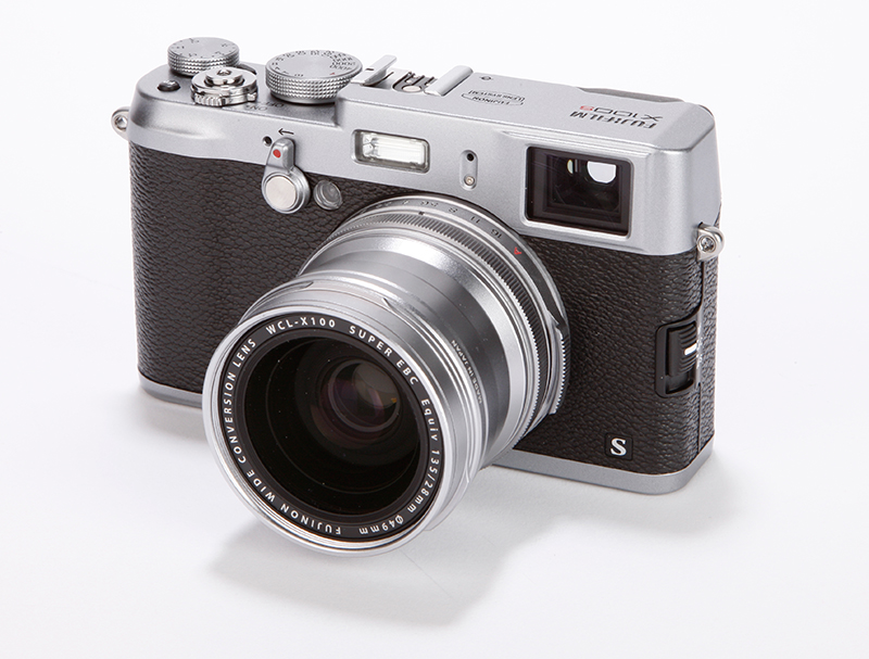 Fujifilm X100S with conversion lens