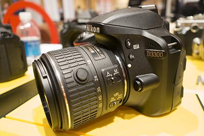 Nikon D3300 front angled