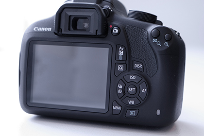 Canon EOS 1200D rear view