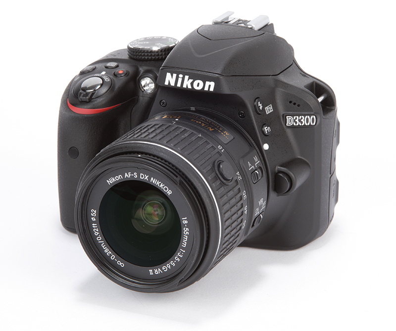 Nikon D3300 front angled