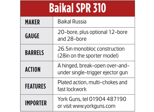 Gun reviews: Baikal 20-bore over-under shotgun review