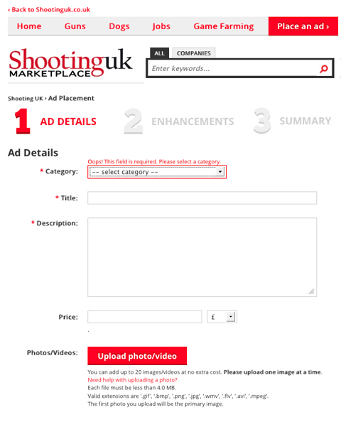 sell your gun on ShootingUK Marketplace