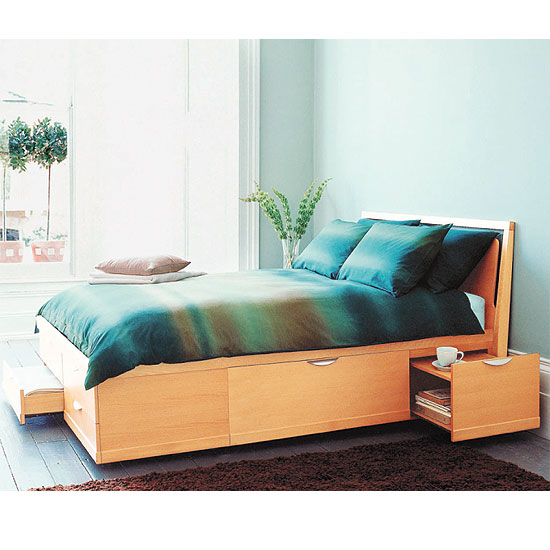 Make full use of the area underneath your bed