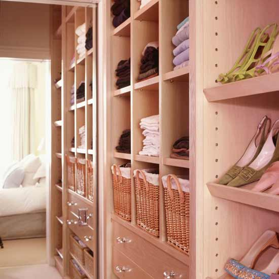 Under-bed storage and fitted wardrobes are great space-savers