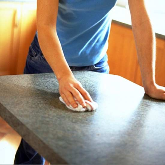 You can fit laminate worktops yourself, and they're easy to look after once installed