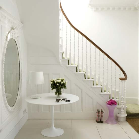 Creative touches in hallways and landings will enhance the appeal of your stairway