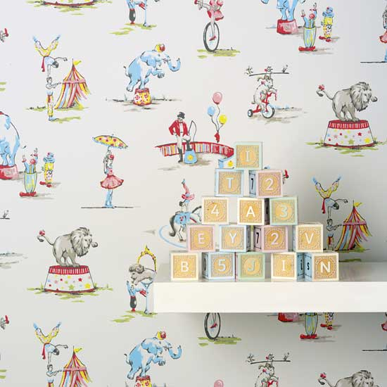 Create a pretty scheme and spark your child's imagination at the same time, with a pictorial wallpaper