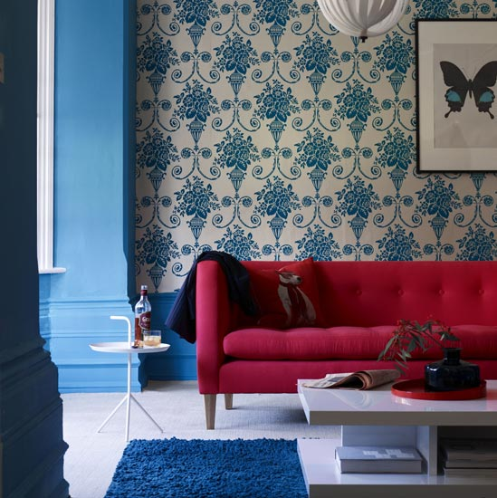 Consider a designer wallpaper for a feature wall as you will use less of it