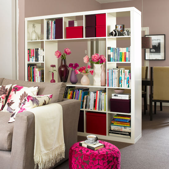 Build a freestanding bookcase that can be used to zone a space and ...