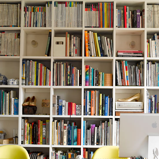 Fill your walls with shelving to house your latest reads