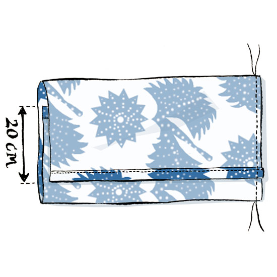 Stitch the sides together to make your envelope cushion \ Illustration: Michael A Hill