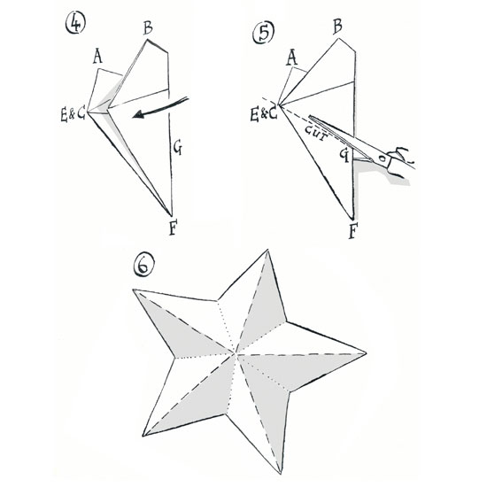Carefully unfold to reveal your 3D five-point star. \ Michael A Hill