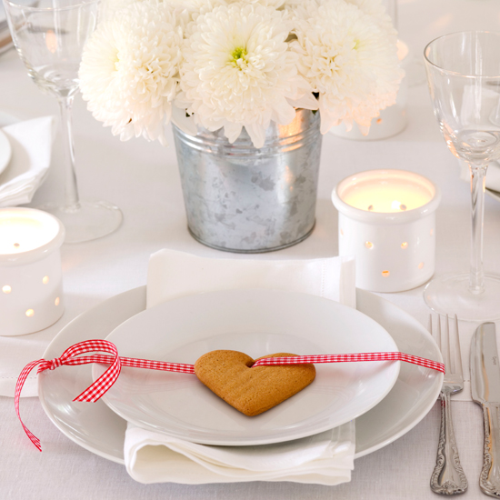 Table setting ideas for Decoration biscuits de noel