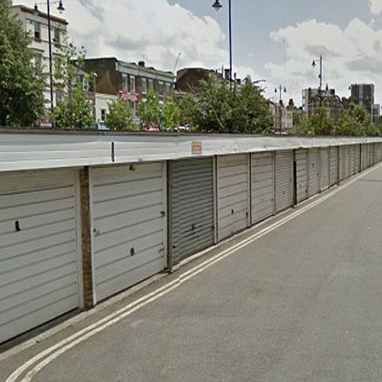Time for a facelift: Turning disused garages into pop-up homes is expected to cost around £13,000 each and will be assembled by apprentices \ Google