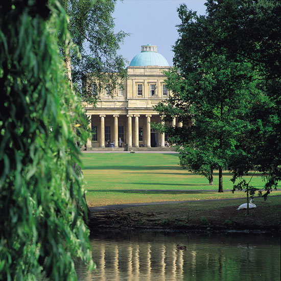 Cheltenham is home to the upmarket Cheltenham Ladies' College and the historical Pittville Pump Room (pictured) \ VisitCheltenham/David Sellman