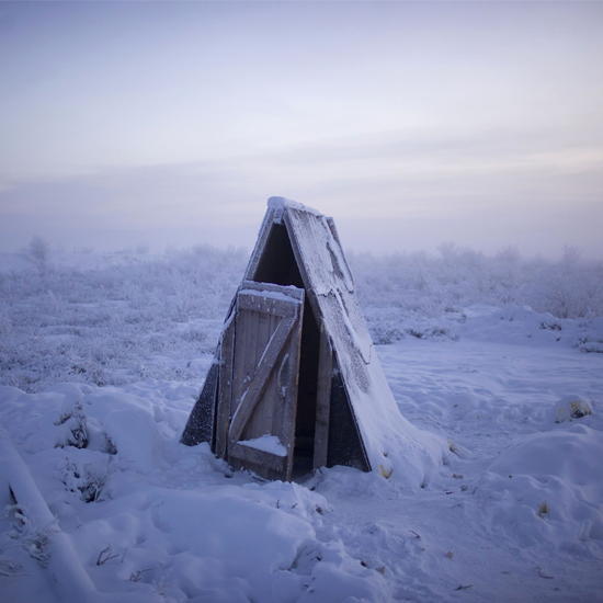'Pole of Cold': If you're planning a bathroom makover this spring, spare a thought for Oymyakon residents - many of them still have outdoor facilities \ Amos Chapple/Rex Features
