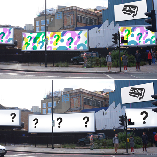 Art with a heart: Three graffiti artists will be taking over three billboards in London's Old Street to promote awareness of young male suicide this Sunday \ CALM