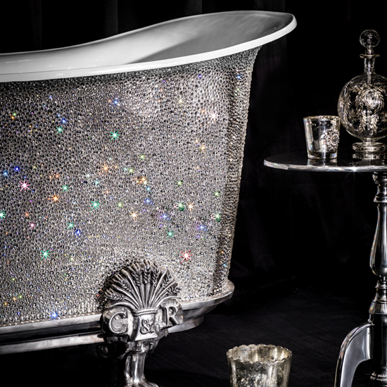 Feeling flush? Why not have your name included in the design? Catchpole & Rye offer personalised versions of their crystal studded tub \ Catchpole & Rye