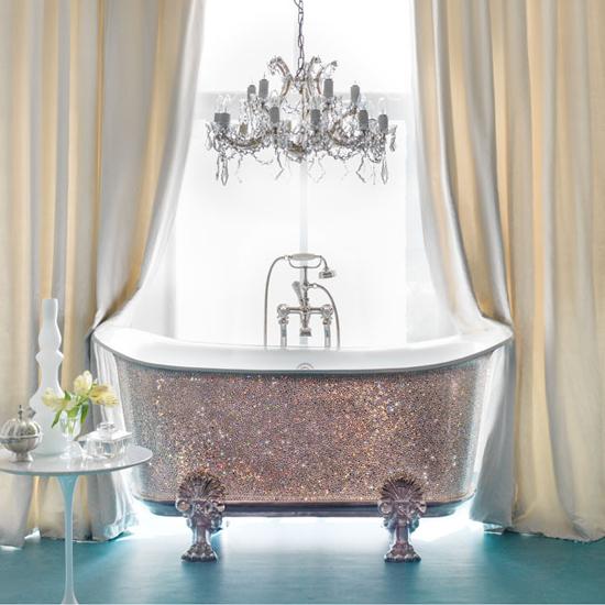 Splash out: The Swarovski Saracen bath from Catchpole & Rye will set you back a cool £150,000 \ Catchpole & Rye