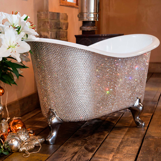 Bling-tastic: For those with smaller bathrooms (and smaller wallets) the Petit Bateau will set you back £120,000