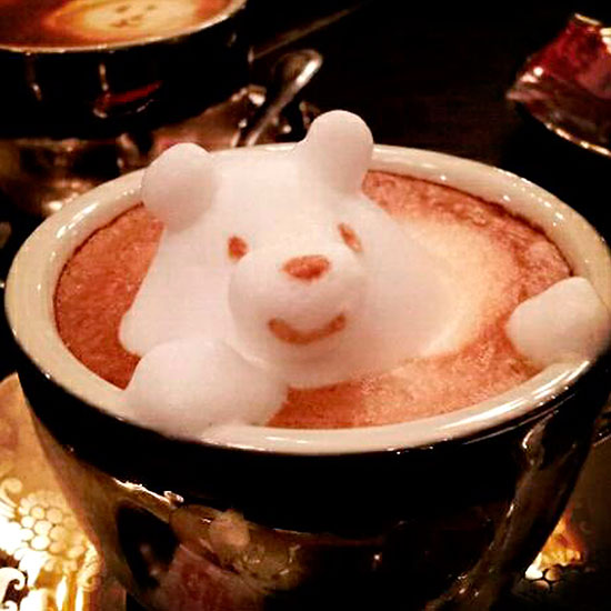 Coffee, but not as we know it: Japanese barista, Kazuki Yamamoto has created amazing creations from simple cappuccino froth \ Rex Features