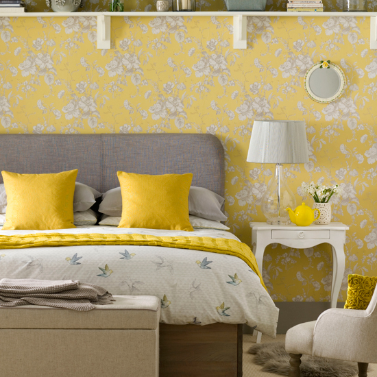 Want 7 hours 39 sleep every night simple just paint your for Bedroom ideas yellow and grey