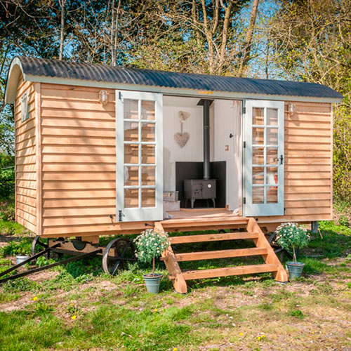 Flat pack shepherd hut orders up 200 for Flat pack garden decking